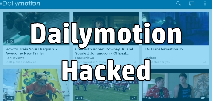 Dailymotion Hacked