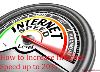 Increase internet speed up to 20%